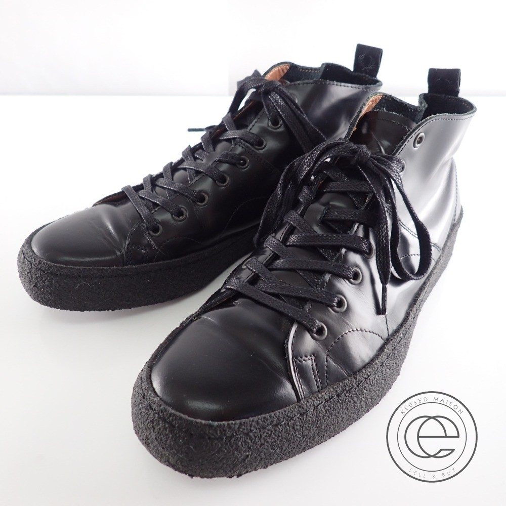GEORGE COX George coxswain X FRED PERRY Fred Perry collaboration B2273 CREEPER MID LEATHER glass leather creeper monkey boots 8 black men