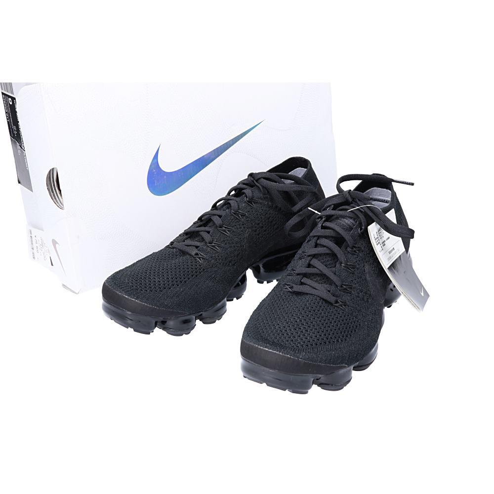 brand new 1ec33 2aa4d NIKE Nike 849,558-011 AIR VAPORMAX FLYKNIT TRIPLE BLACK air vapor max  triple black sneakers 27 BLACK/BLACK men