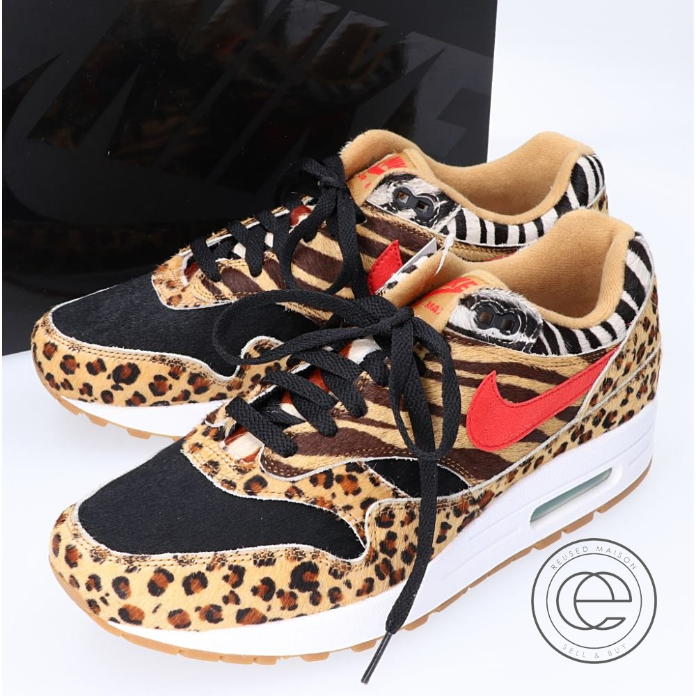 Nike Nike Air Max 1 Animal Print Athletic Shoes for Men for