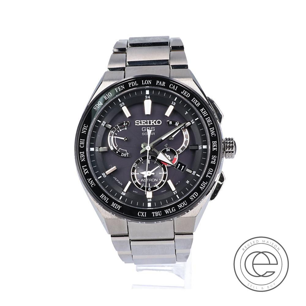 SEIKOセイコー SBXB155 8X53-0AV0 ASTRONアストロン GPSソーラー 腕時計 シルバー/ブラック メンズ 【中古】