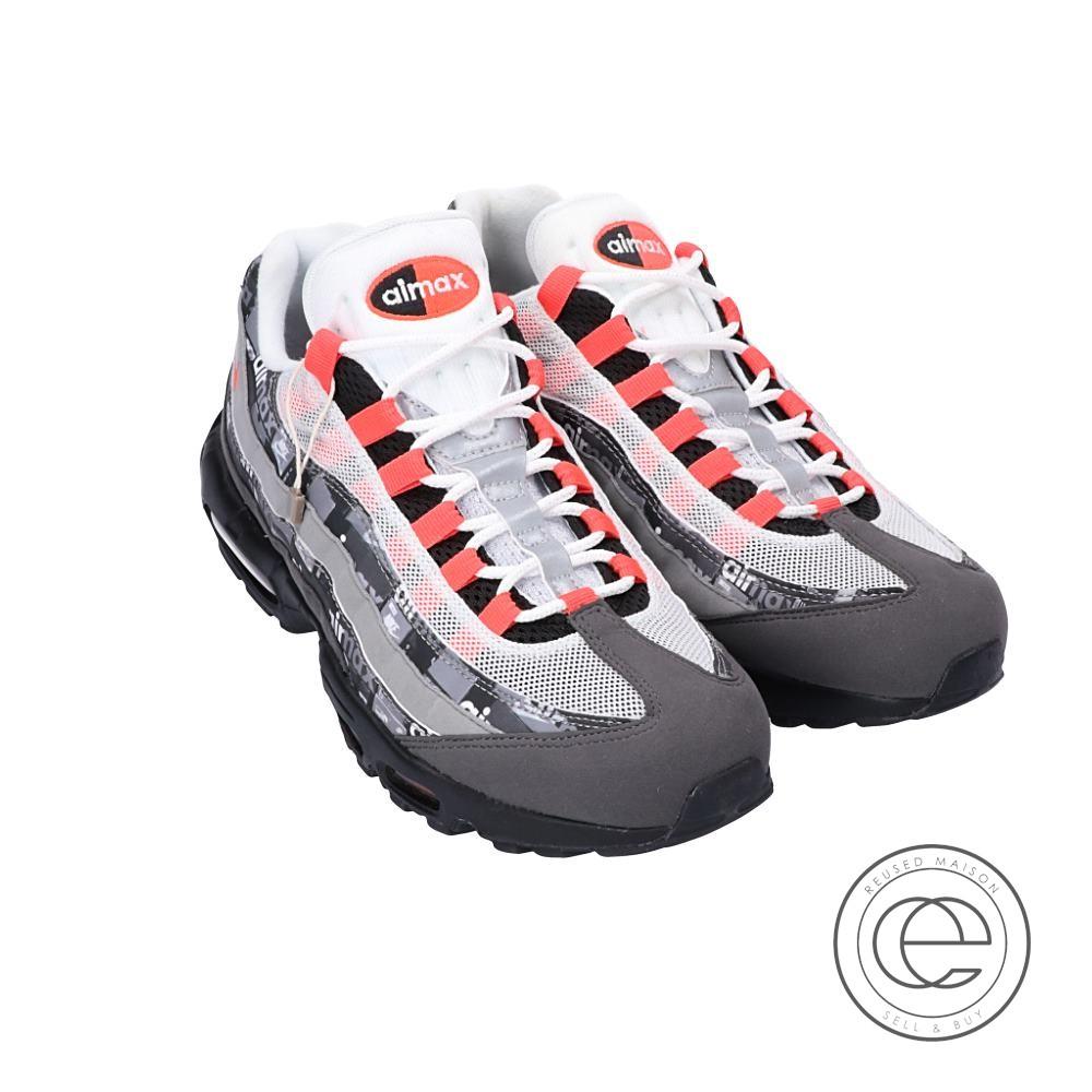 NIKE Nike X atmos atto MOS collaboration AQ0925 002 Air Max 95 Air Max 95 We Love Nike sneakers 28 BLACKBRIGHT CRIMSONMEDIUM ASH men