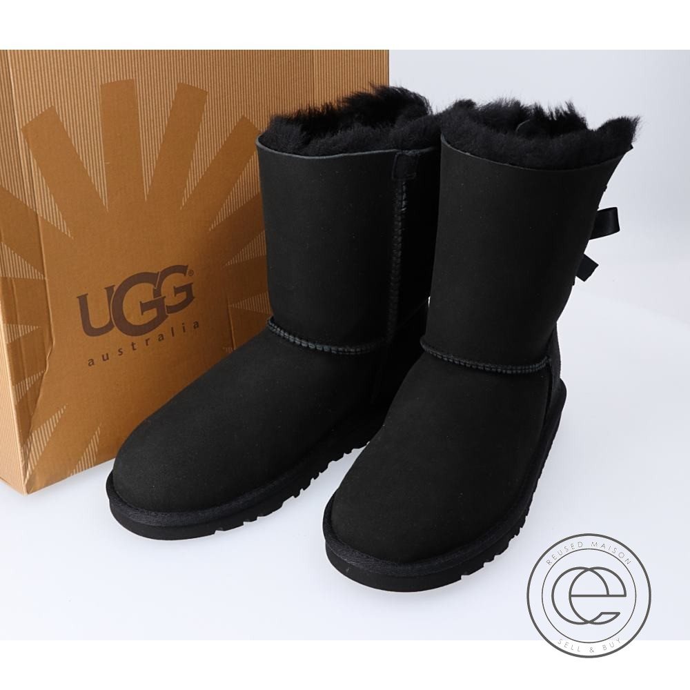 UGG アグ 3280 K BAILEY BOW Bailey bow tie mouton boots 23 black Lady's