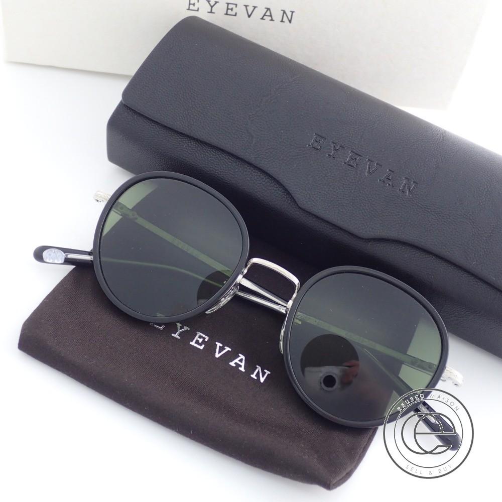 EYEVAN7285 アイヴァン E-0501-SG サングラス 48□22-145 BK/S【中古】