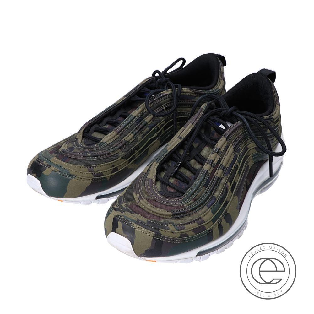 NIKE Nike AJ2614 200 AIR MAX 97 PREMIUM QS COUNTRY CAMOFRANCE Air Max 97 premium quick strike camouflage pattern sneakers 27.5 MEDIUM