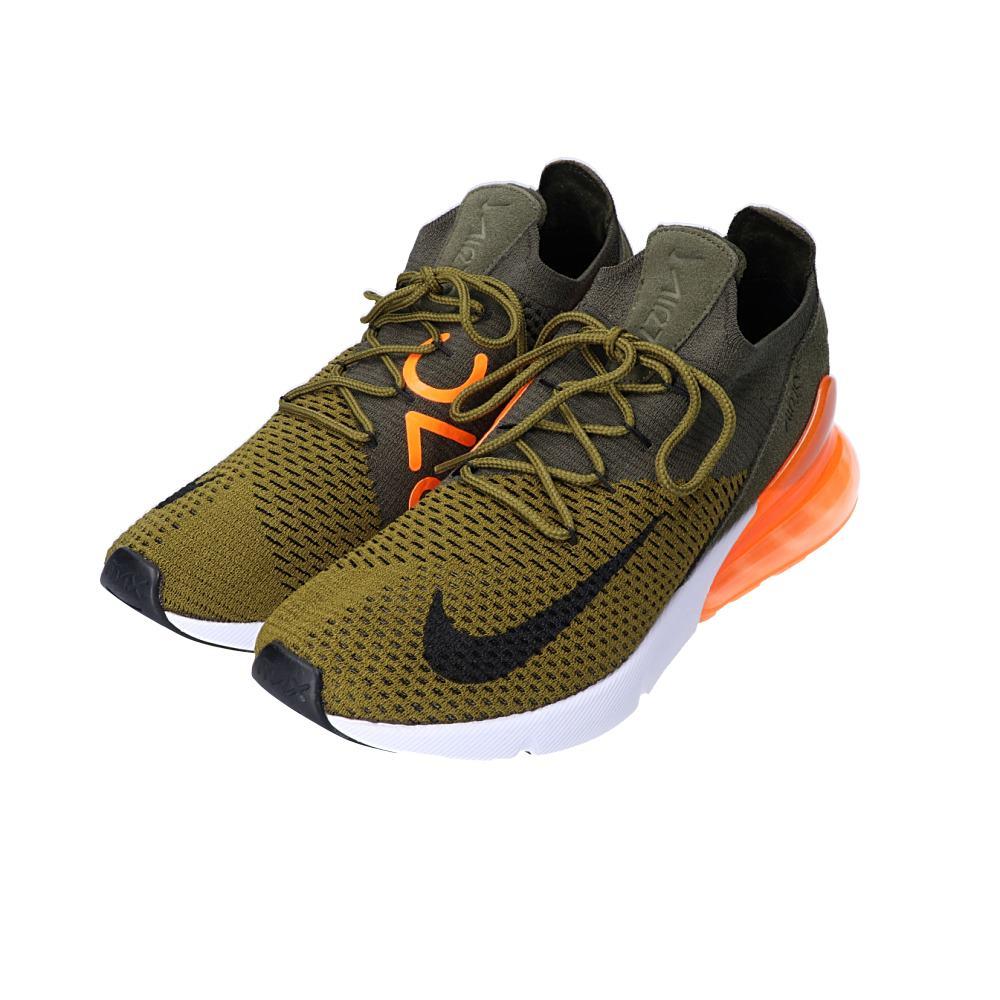 NIKE Nike AO1023 301 AIR MAX 270 FLYKNIT Air Max 270 fried food knit sneakers 26cm OLIVE FLAKBLACK CARGO KHAKI men