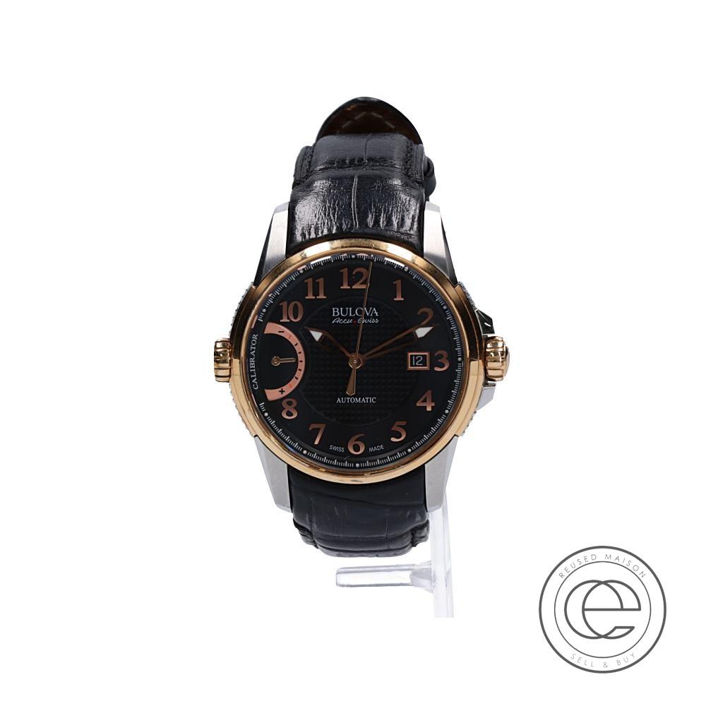 BULOVAブローバ 65B154 Accutron Calibrator アキュトロン キャリブレーター 自動巻き腕時計 ローズゴールド/シルバー メンズ 【中古】