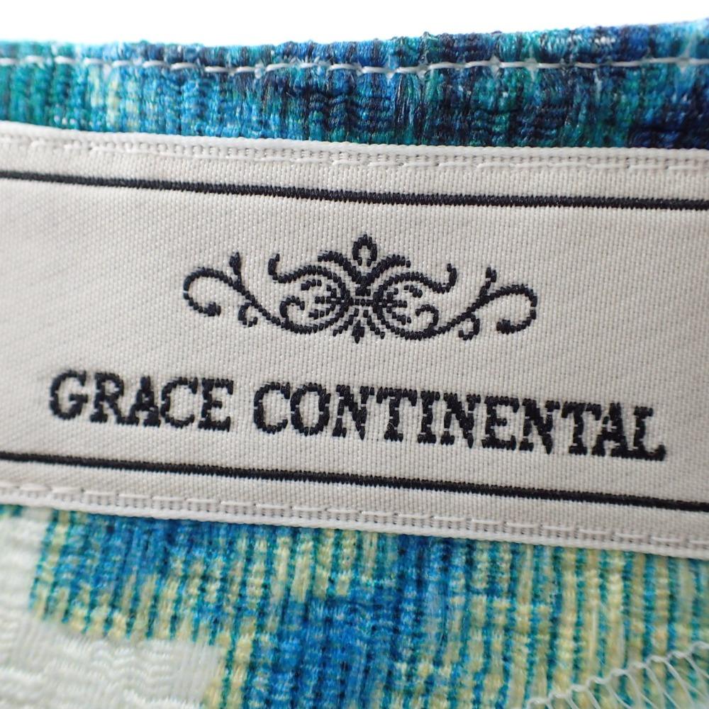 GRACE CONTINENTALグレースコンチネンタル 15241160 15216160 ローズプリントトップ パンツ セットアップ スーツ 38 グリーン系 レディースZuwiTkOPX