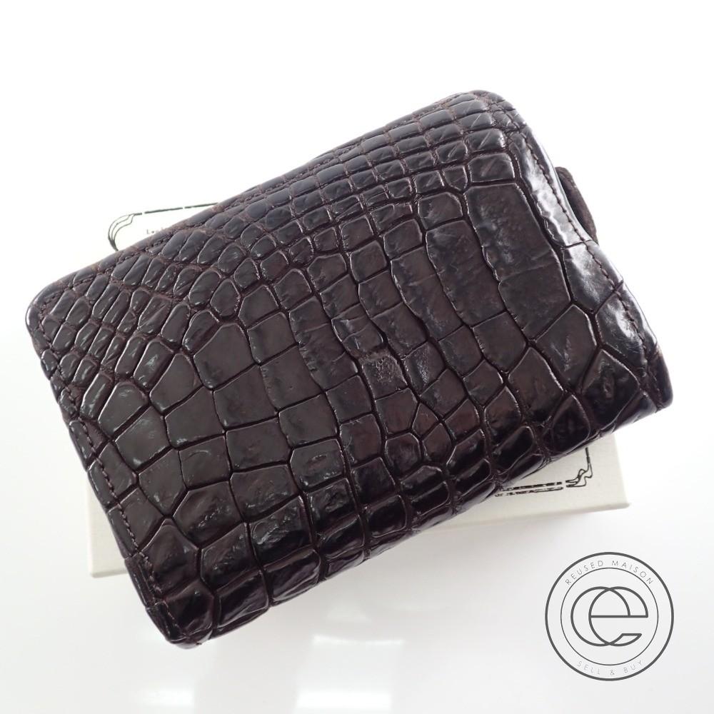 7307b8c7a1dc CHRISTIAN PEAU クリスチャンポー B-013 クロコダイル ショートウォレット/ 二つ折り財布(小銭