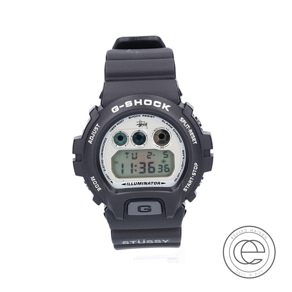G-SHOCKジーショック ×STUSSYステューシー DW-6900SS-1EV Limited Edition 1st MODEL 腕時計 ブラック メンズ 【中古】