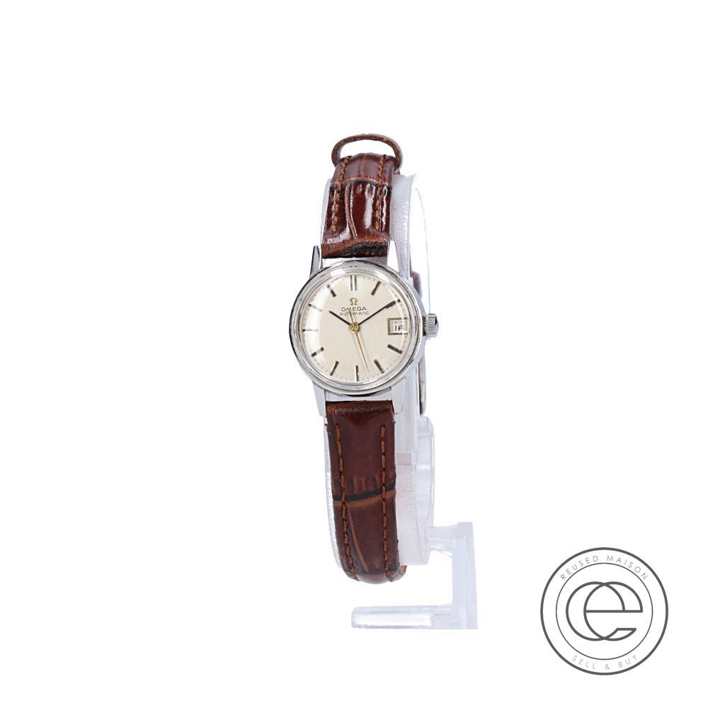 OMEGAオメガ Ref.565.002 L DATE アンティークウォッチ 自動巻き腕時計 シルバー レディース 【中古】