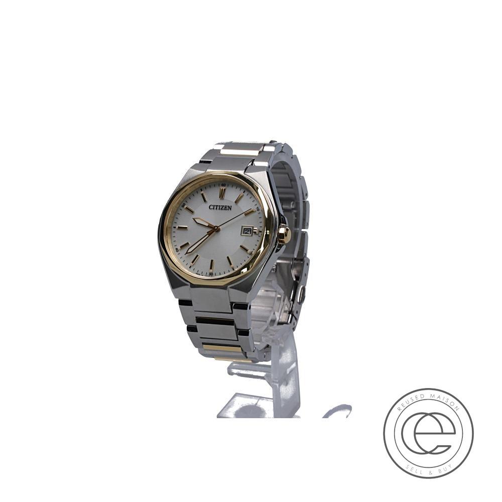 CITIZENシチズン コレクション BM6664-67P エコドライブ 腕時計 シルバー/ゴールド メンズ 【中古】