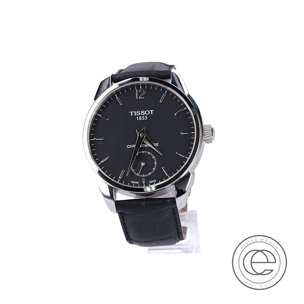TISSOTティソ T070406A T-コンプリカシオン クロノメーター 手巻き 腕時計 シルバー/ブラック メンズ 【中古】