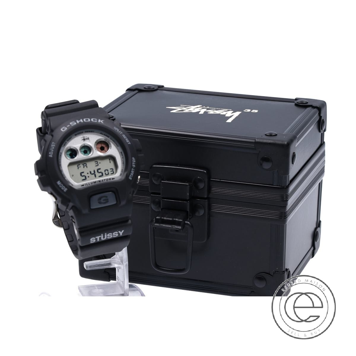 G-SHOCKジーショック×STUSSYステューシー DW6900STF-1JR 35周年記念モデル 腕時計 ブラック メンズ 【中古】