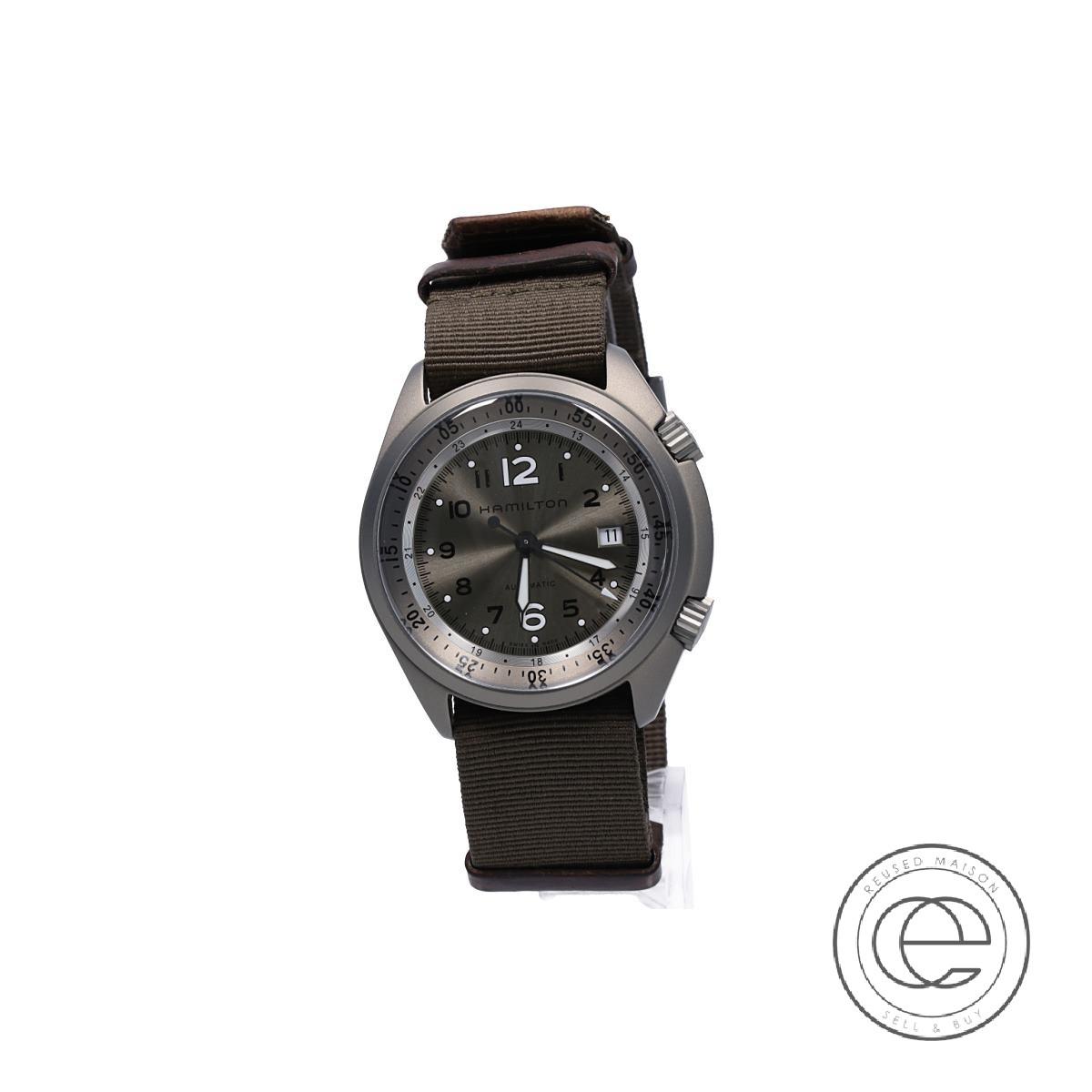 HAMILTONハミルトン H80405865 Khaki Aviation カーキ アビエーション パイロット パイオニア アルミニウム 自動巻き腕時計 メンズ 【中古】
