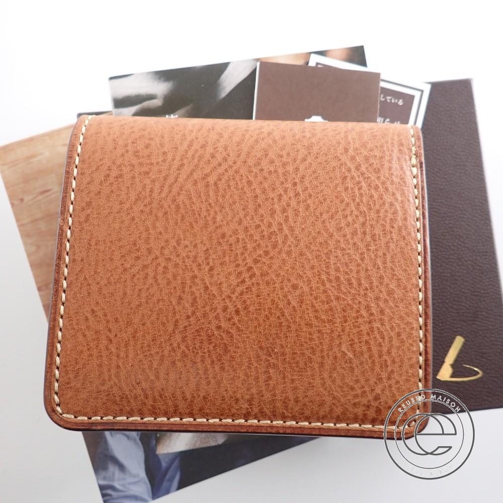 土屋鞄 URBANO ウルバーノ コンパクトコインパース 二つ折り財布(小銭入れあり)ブラウン メンズ 【中古】