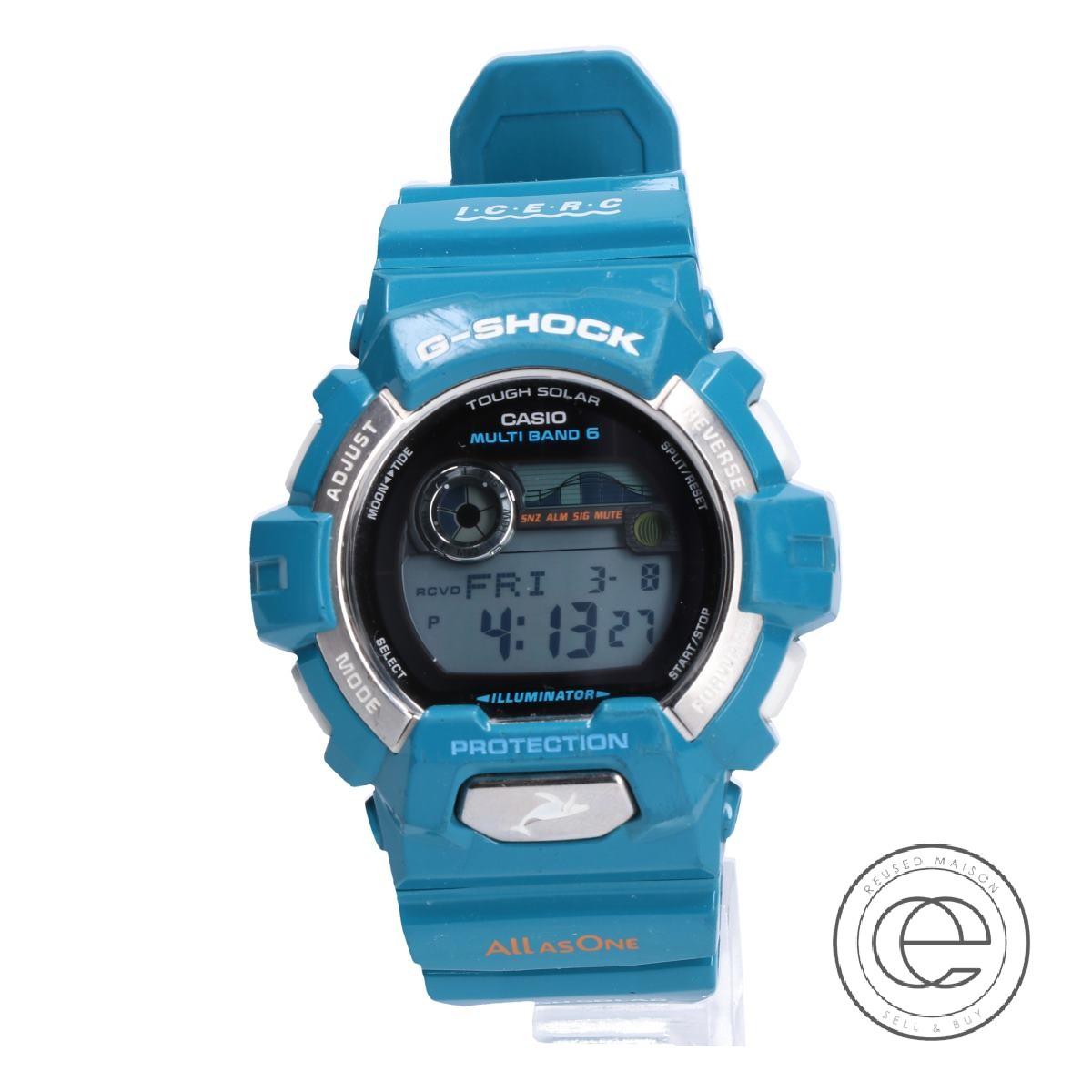G-SHOCKジーショック GWX-8900K-3JR 2012年 アイサーチ・ジャパン イルカ・クジラモデル タフソーラー電波 腕時計 ブルーグリーン 【中古】