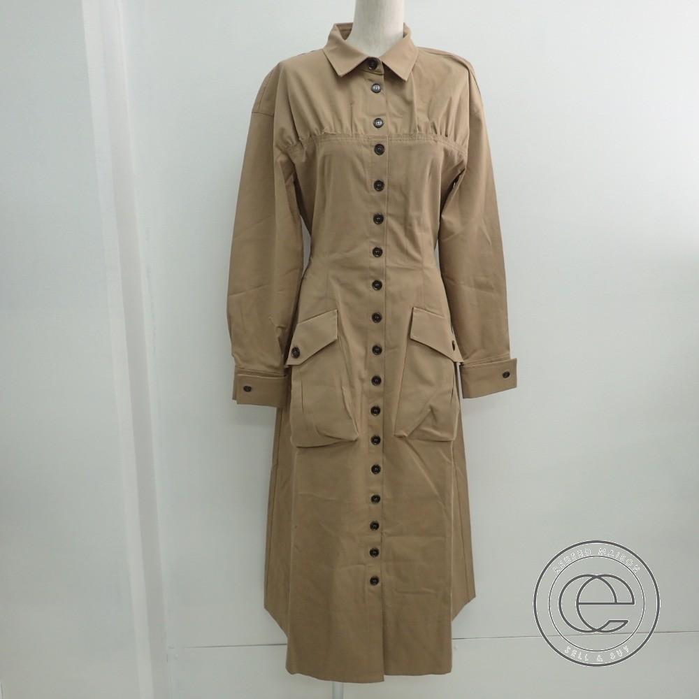 REJINA PYOレジーナピョウ 【新品同様■】F188 Miller Pocket Shirt Dress ミラー ポケット シャツドレス/ワンピース 38 CAMEL レディース 【中古】