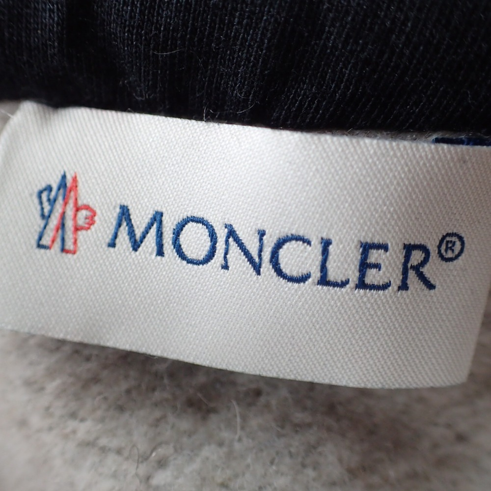 0ec091ee1 Down / sweat shirt reshuffling parka / jacket L gray X black men with  MONCLER Monk rail cuffs logo emblem