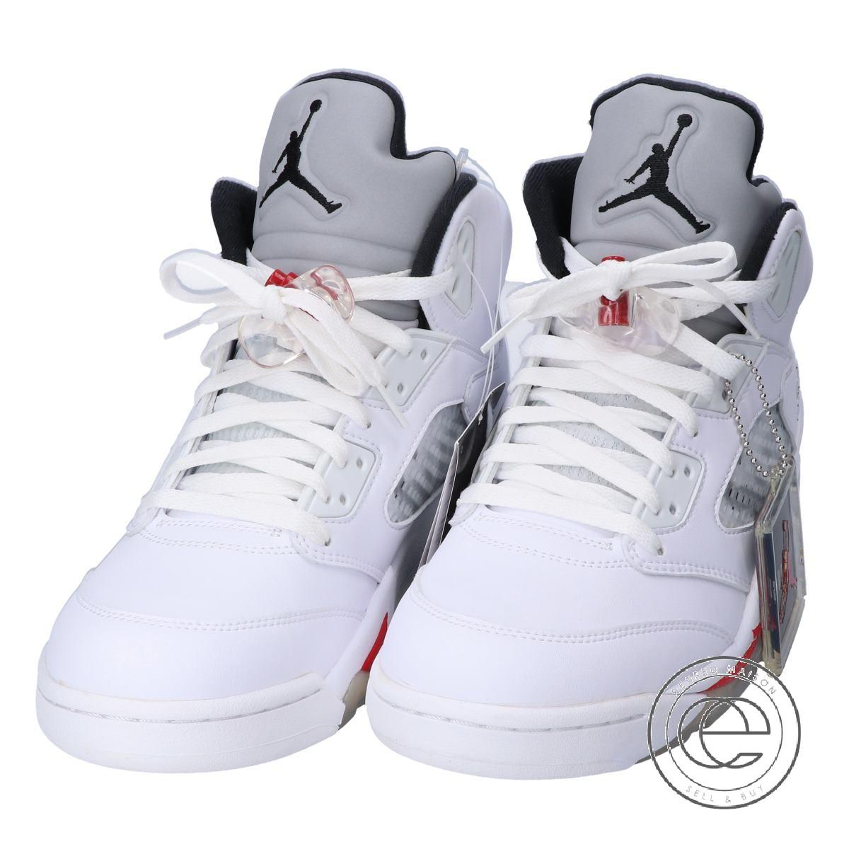 b819beefb6 Supreme / シュプリームX NIKE Nike [as well as a new article] 824,371-101 AIR  JORDAN 5 RETRO SUPREME Air Jordan 5 レトロシュプリームスニーカーシューズ