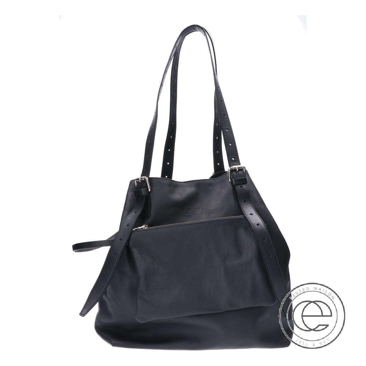 MM6 MAISON MARGIELA エムエム 6 メゾン マルジェラ S41WC0013 Shopping Bag ショッピング トートバッグ ブラック レディース 【中古】