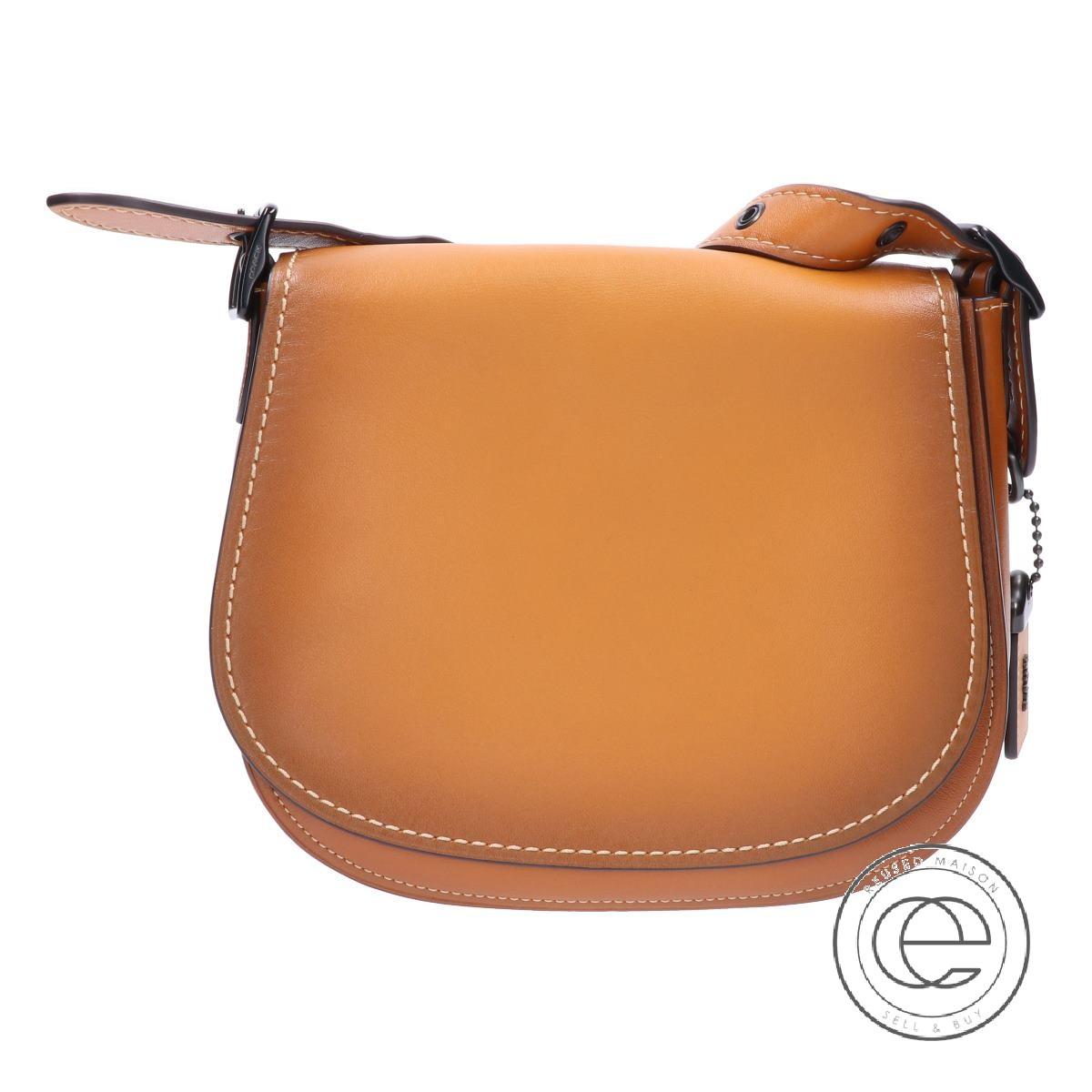 Coach Sd 20175 Saddle Bag Leather Saddlebag Shoulder Brown Lady S