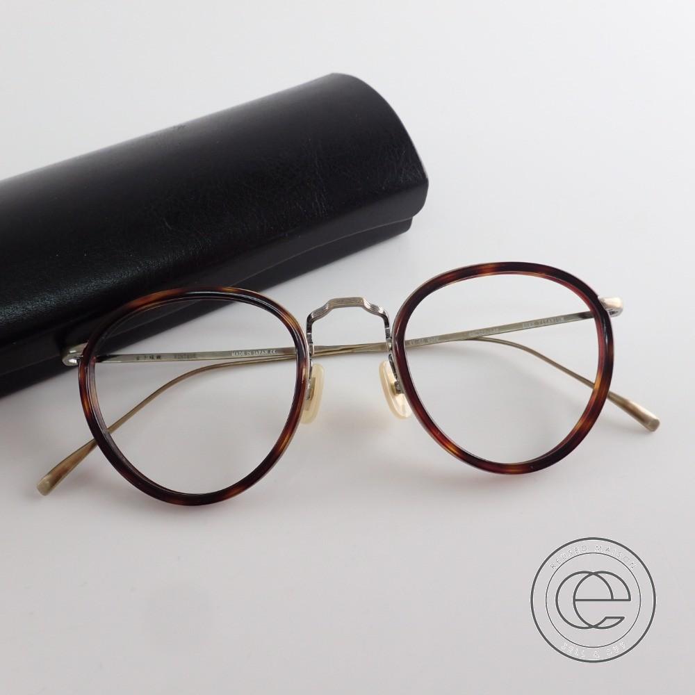 金子眼鏡 VINTAGE KV-65 RDDE レンズ無し コンビメガネフレーム 49□22-148 ブラウン系/アンティークゴールド【中古】