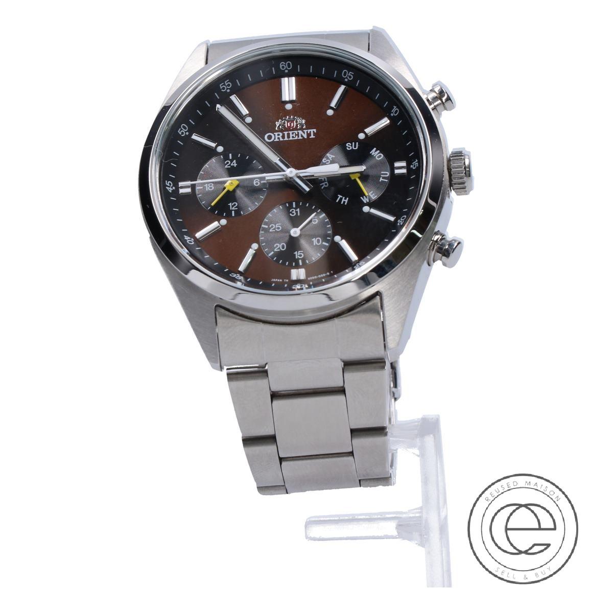 ORIENTオリエント UZ00-CO-B クロノグラフ SS クオーツ 腕時計 シルバー メンズ 【中古】