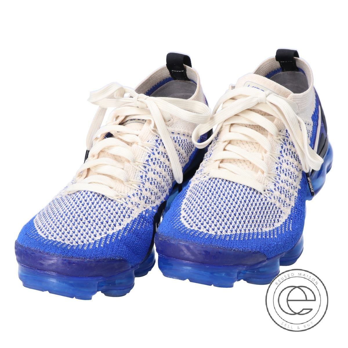 sports shoes 10a1b f1df6 NIKE Nike 942,842-204 AIR VAPORMAX FLYKNIT 2 air vapor max fried food knit  2 sneakers 25 light cream / racer blue men