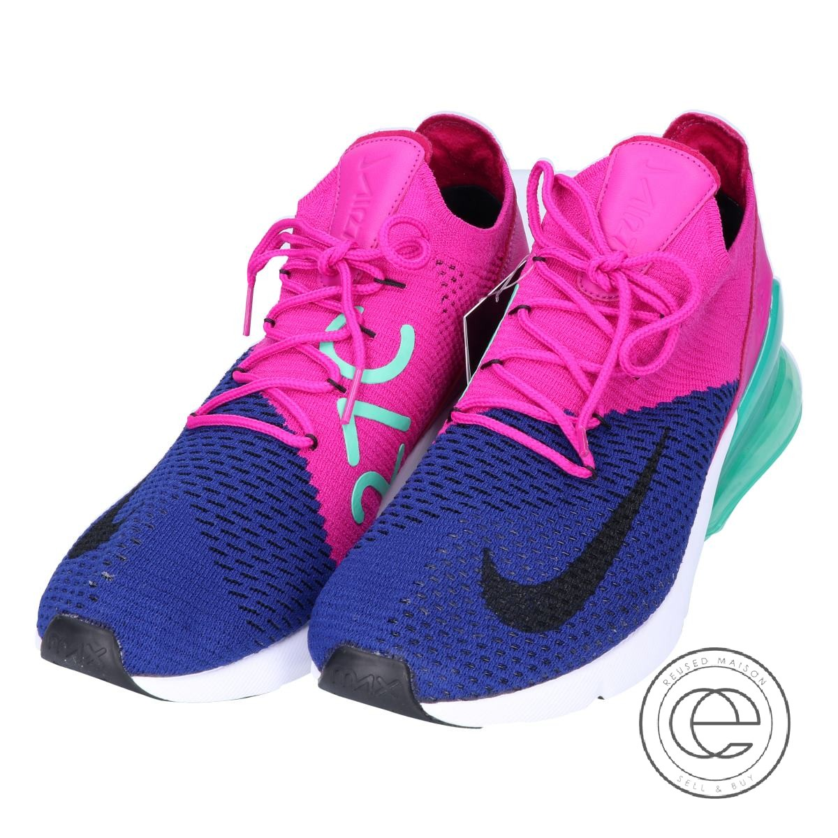 pretty nice c1b4a a2f25 NIKE Nike AO1023-401 AIR MAX 270 FLYKNIT Air Max 270 fried food knit  sneakers 27.5 Deep Royal Blue/Black-Fuchsia Flash men