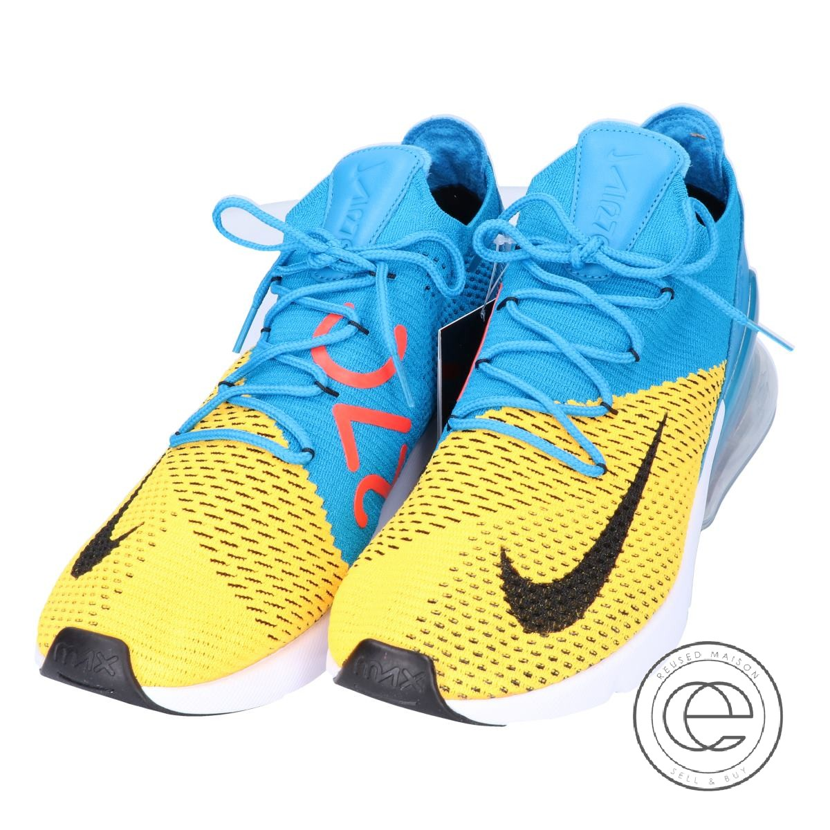Nike Air Max 270 Flyknit Sport Shoes for Men Dark Blue