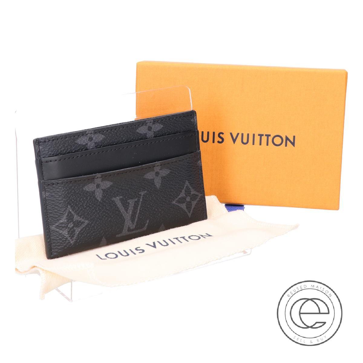 LOUIS VUITTON ルイ・ヴィトン 16年製 M62170 ポルト・カルト・ダブル カードケース モノグラム・エクリプス メンズ 【中古】