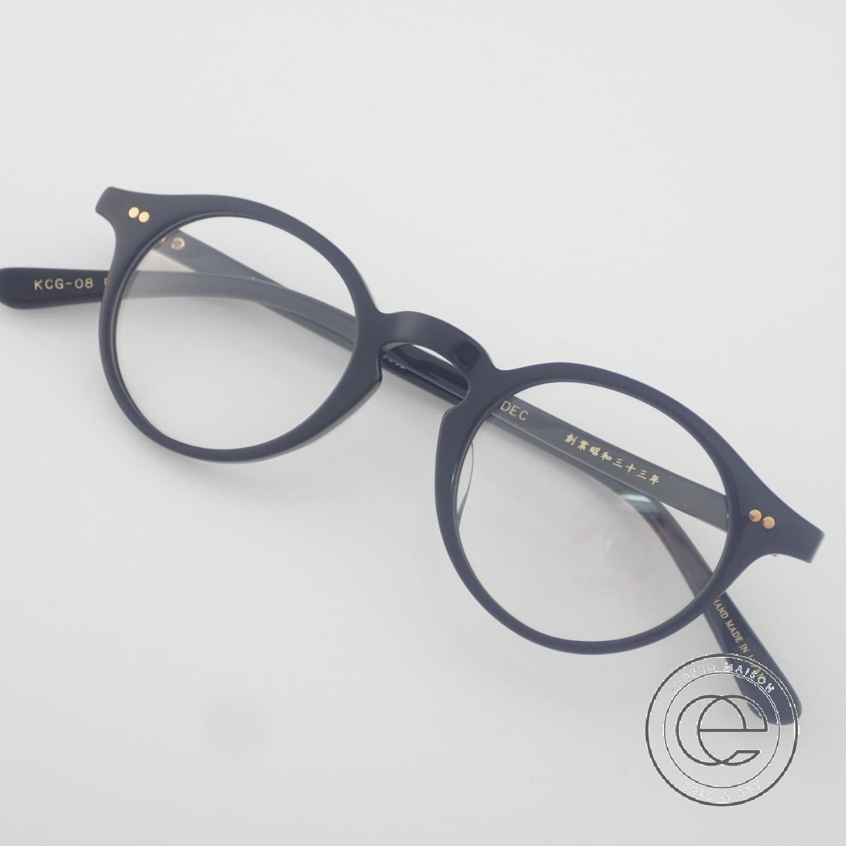 金子眼鏡 KCG-08 K18-DEC メガネフレーム ブラック【中古】