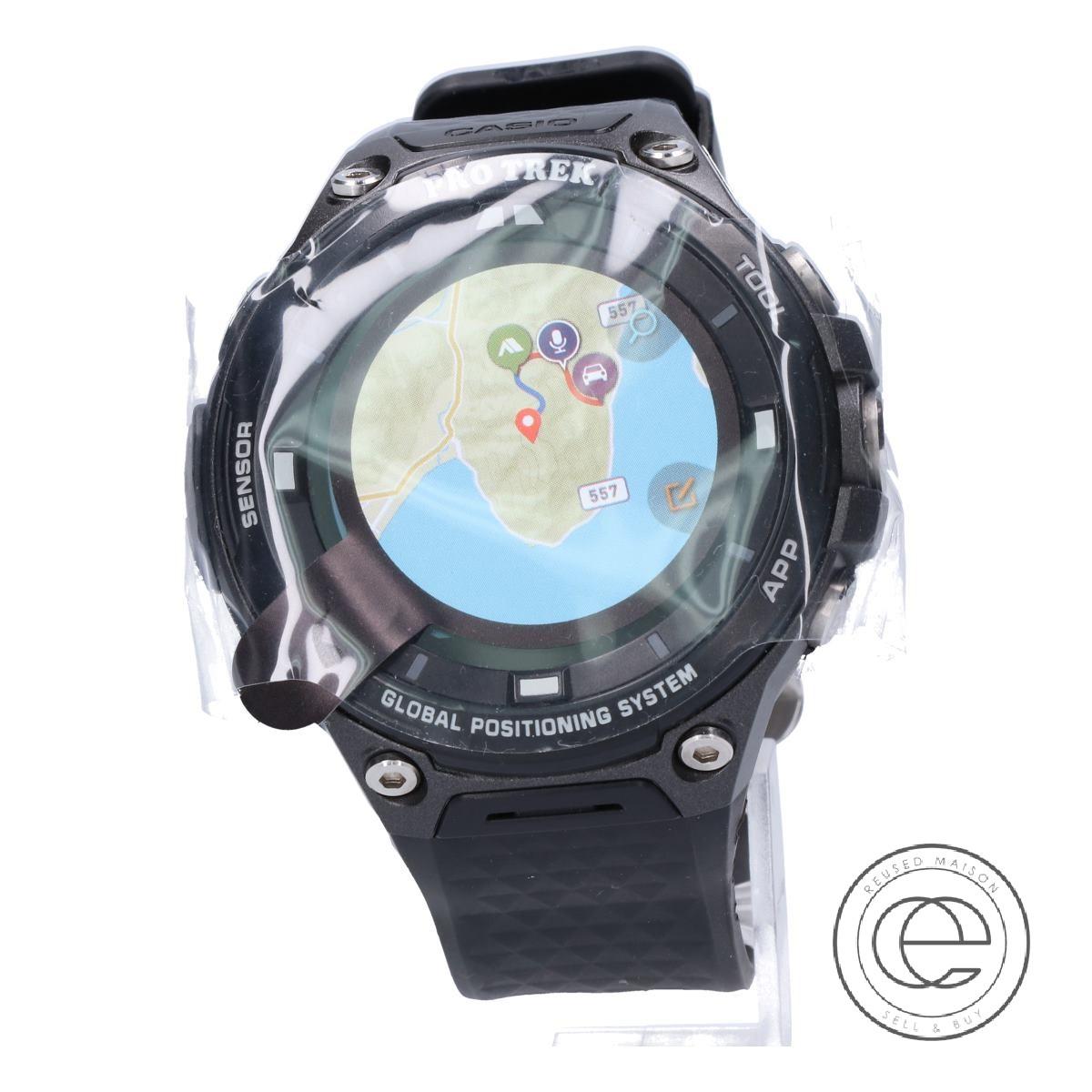 CASIOカシオ 【未使用◇】WSD-F20-BK PRO TREK Smartプロトレックスマート GPS搭載 アウトドアウォッチ 腕時計 ブラック メンズ 【中古】