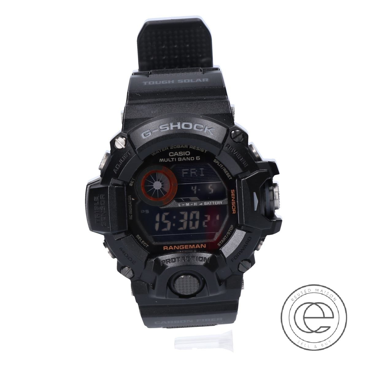 G-SHOCKジーショック GW-9400BJ-1JF RANGEMANレンジマン マルチバンド6 タフソーラー電波腕時計 ブラック メンズ 【中古】