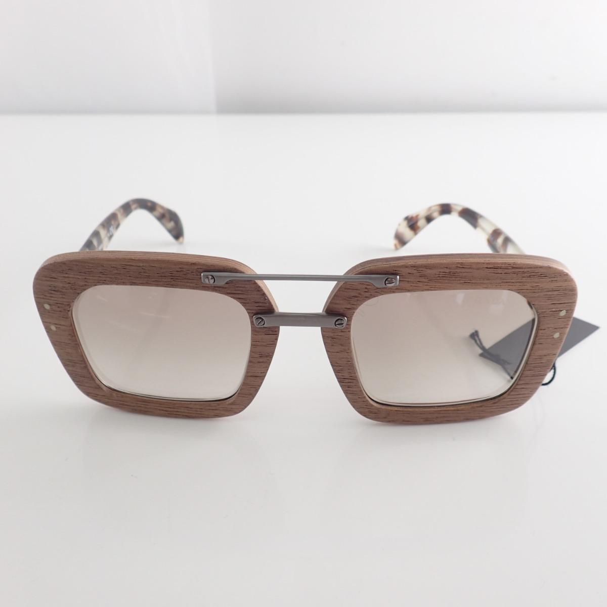Prada Prada Spr30r F Iam 4o0 Wood Frame Sunglasses 51 25 135 Brown System