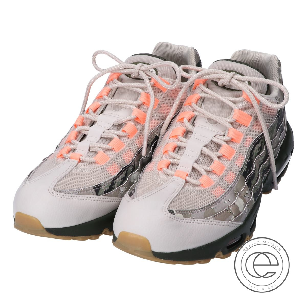 NIKE Nike AQ6303 001 AIR MAX 95 ESSENTIAL Air Max 95 essential sneakers shoes 27 CAMO(Desert SandSunset Tint) men