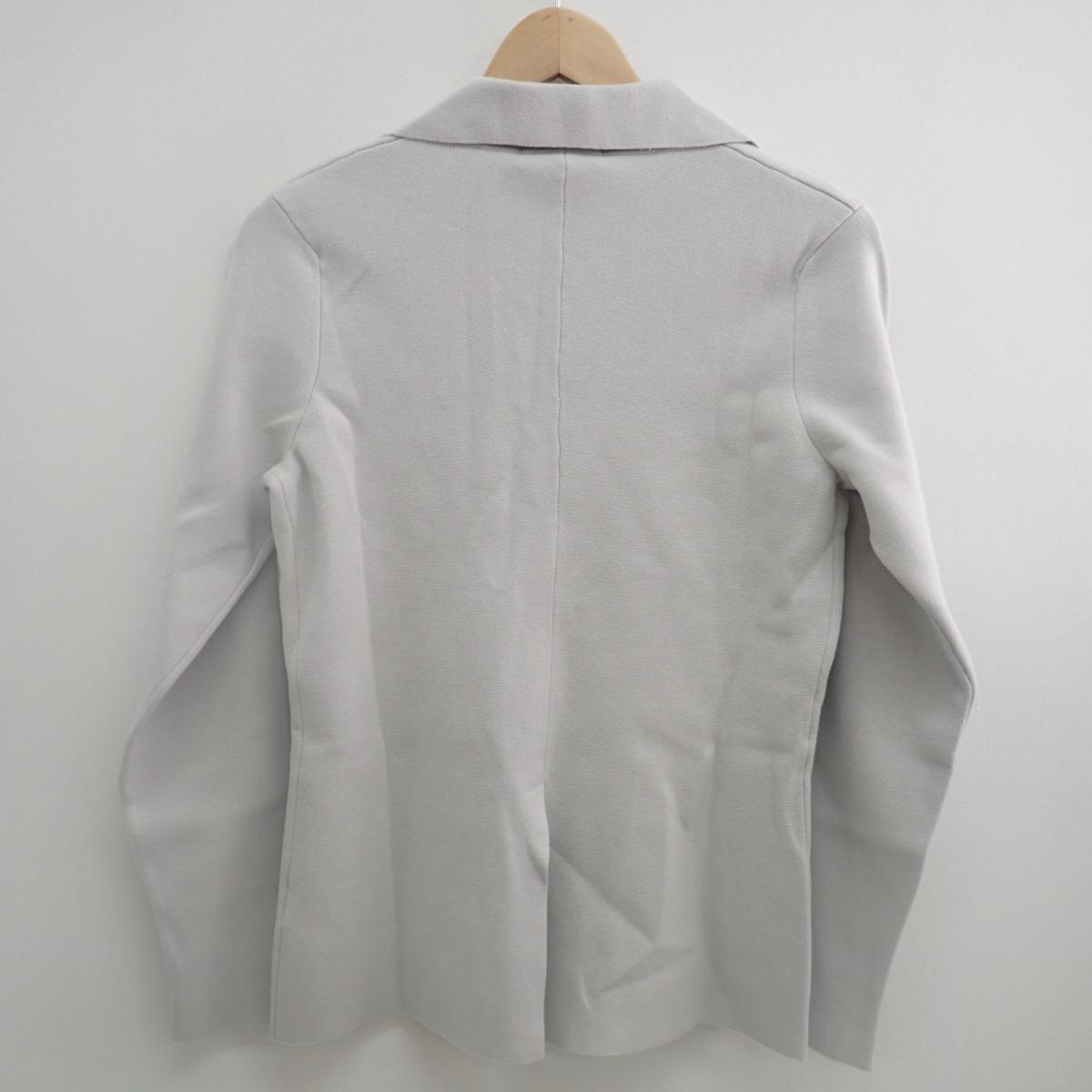 the best attitude 52342 847f5 Cruciani クルチアーニ CU5164 3B Milano-Rib Knit Jackets 3B Milan rib knit jacket  46 light gray men