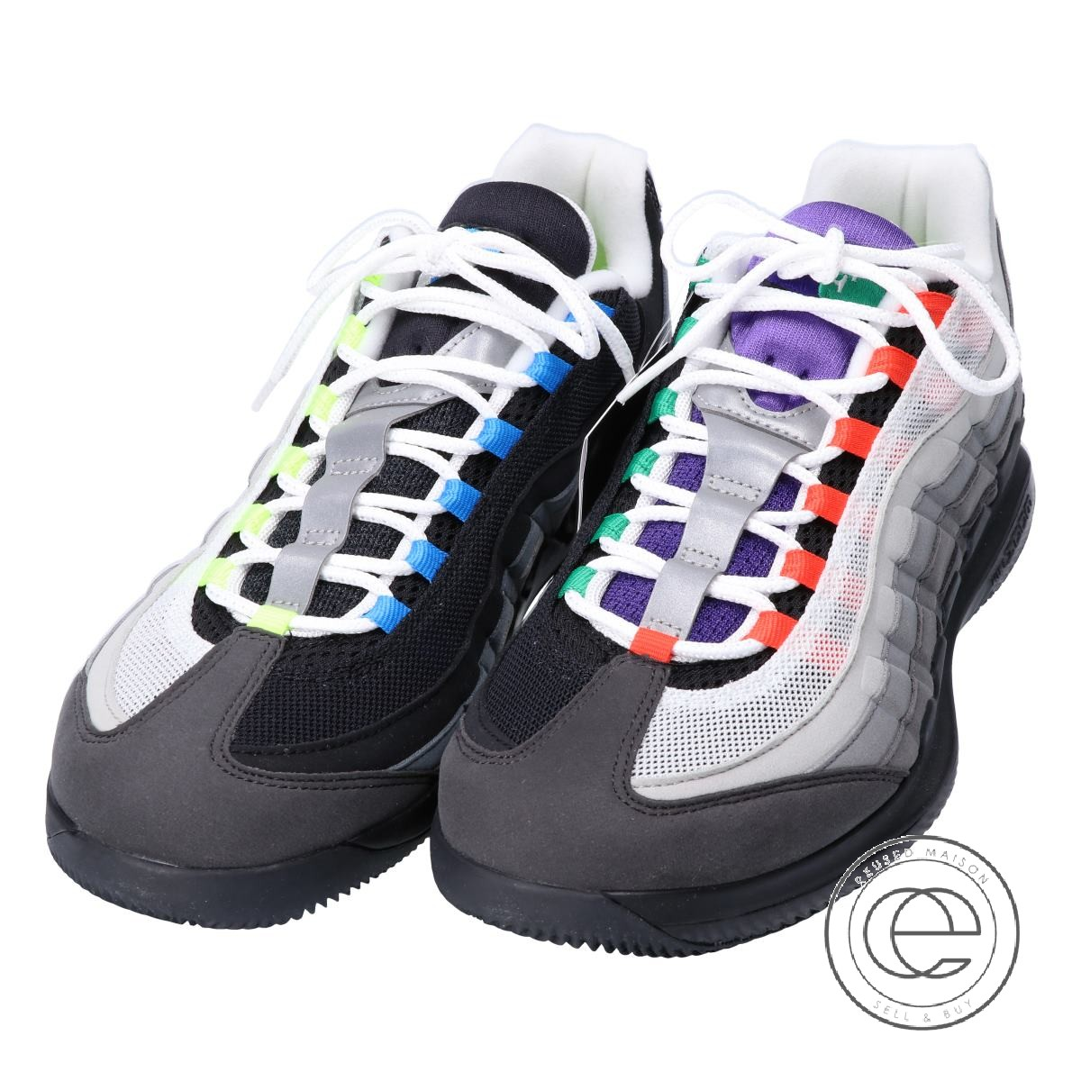 the best attitude dc3b8 49af0 NIKE Nike AO8759-077 ZOOM VAPOR RF X AIR MAX 95 ズームヴェイパーロジャーフェデラー X Air Max  95 sneakers 28 BLACK/SAFETY ORANGE-VOLT men