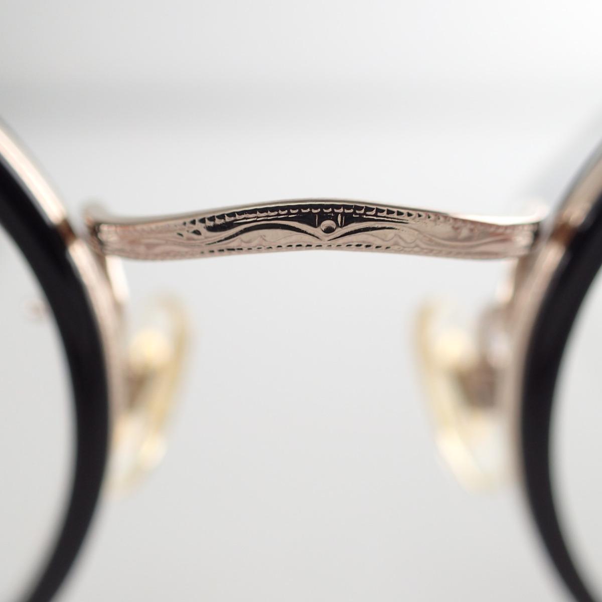 白山眼鏡 A2 度入りレンズ ボストン型 コンビメガネフレーム ブラック ゴールドk8XnO0wP