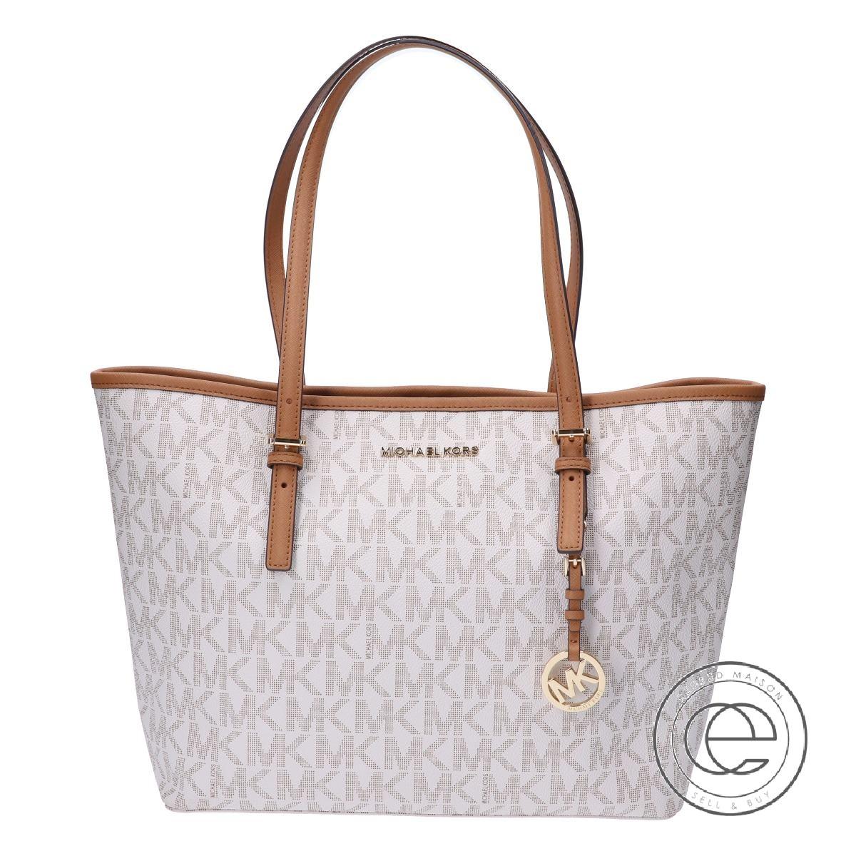 MICHAEL KORS Michael Kors 35H7GTVT2B signature leather tote bag VANILLA X ACORN Lady's