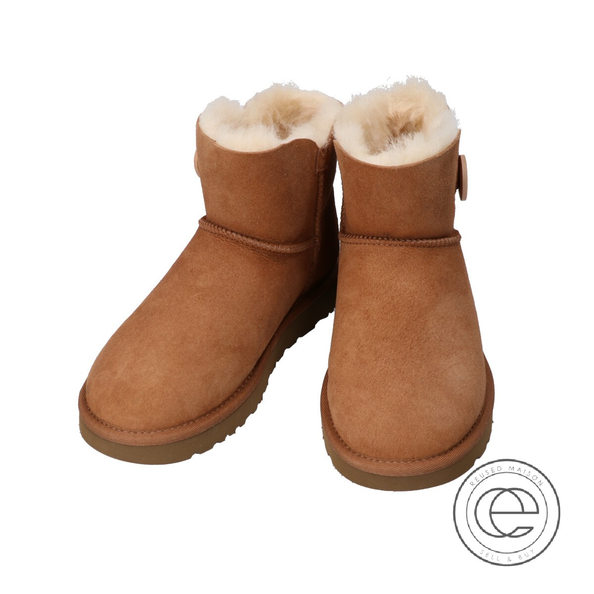 a4233374c56 UGG アグ 1016422 MINI BAILEY BUTTON II mini-Bailey button 2 mouton boots US6  CHESTNUT Lady's