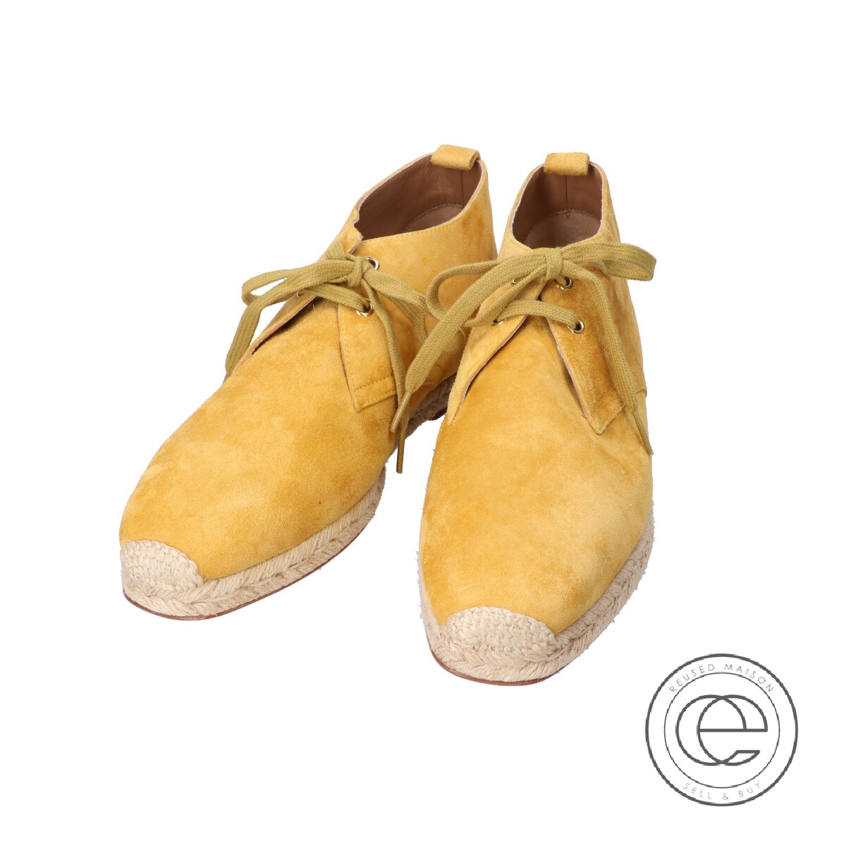 huge discount b2de9 83c72 Christian Louboutin クリスチャンルブタン Neocadaques lace-up suede espadrilles race  up espadrille desert boots / shoes 41 mustard yellow men