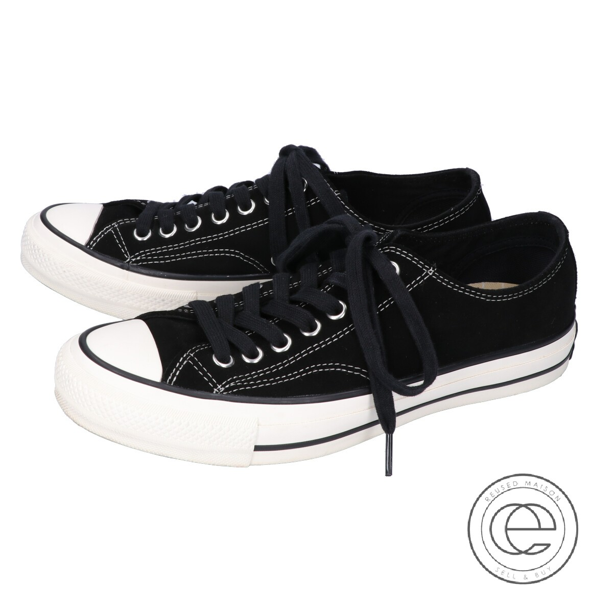 grande vente f6e8c e3dfd CONVERSE ADDICT コンバースアディクト 1CJ541 CHUCK TAYLOR SB-SUEDE OX suede  low-frequency cut sneakers 27 BLACK/BLACK men