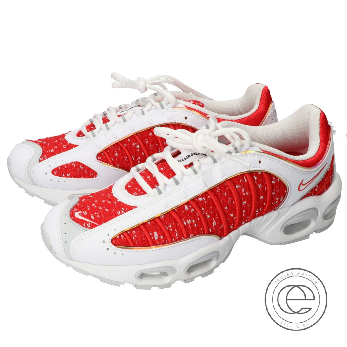pretty nice 1f999 3d1ee Supreme シュプリーム X NIKE Nike NIKE AIR MAX TAILWIND IV/S Air Max tale wind 4  sneakers / shoes 29cm WHITE UNIVERSITY RED men