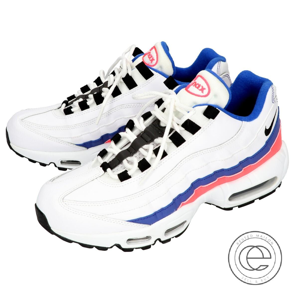 Nike Air Max 95 Essential Mens Shoes WhiteBlack Solar Red