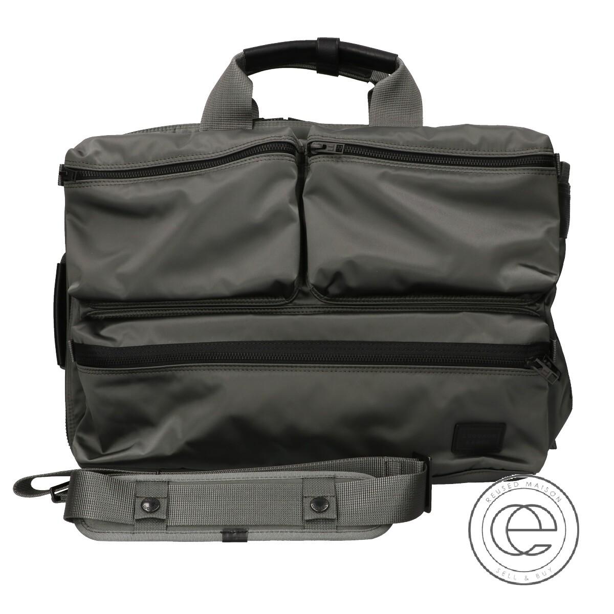 Luggage Label ラゲッジレーベル 973-05750 ZONE 3WAY BRIEFCASE 3WAYブリーフケース グレーカーキ メンズ【中古】
