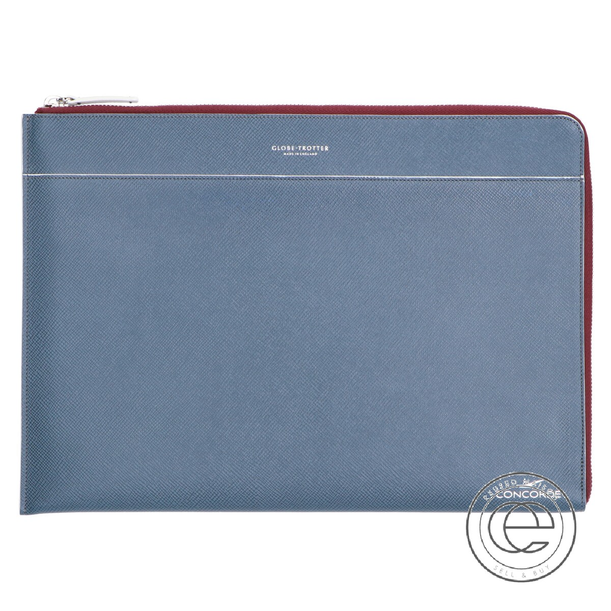Globe trotter グローブ・トロッター JT-DOC-C2-A4WG CONCORDE JET A4 DOCUMENT HOLDER コンコルド就航40周年記念 ジェット ドキュメントケース クラッチバッグ ネイビー メンズ 【中古】