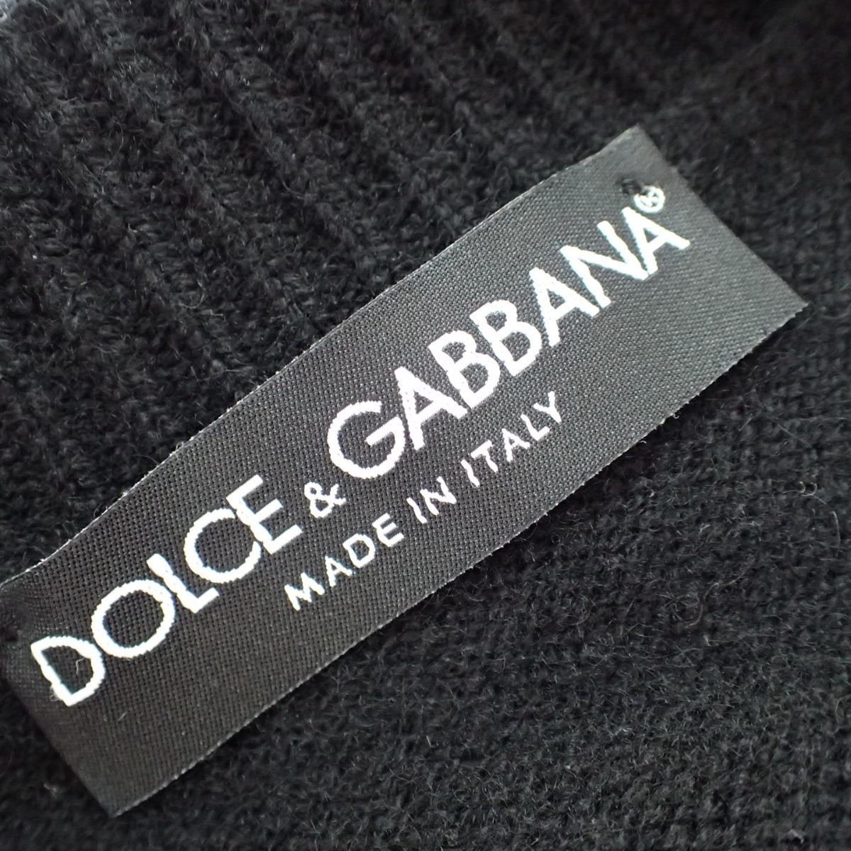 Dolce Gabbana ドルチェアンドガッバーナ国内正規◇ メタル ビジュー マルチボタン カシミヤ100ニット カーディガン トップス 36 ブラック レディースCxBrdoe