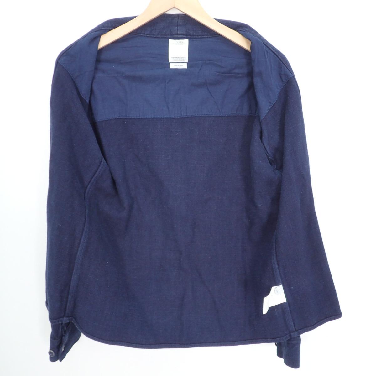VISVIM ビズビム LHAMO SHIRT リネン混レーヨン インディゴ染め ラモシャツ NORAGI野良着 ジャケット 1gfyYb76