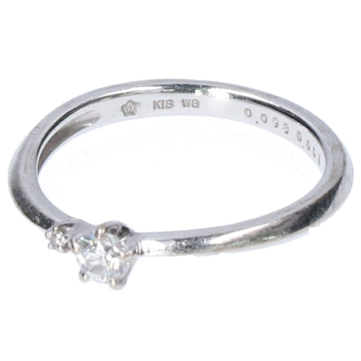 festaria bijou SOPHIA フェスタリアビジュソフィア WISH UPON A STAR K18WG ダイヤモンド0.093/0.005ct リング 指輪 4号 ホワイトゴールド レディース 【中古】